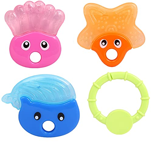 Stylbase BPA-Free Silicone Soft Bendable Highly Effective Baby Teether Toy 4 Toy (6-12 Months)
