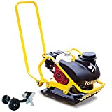 Tomahawk 5.5 HP Honda Vibratory Plate Compactor Tamper with 3.5 Gallon Water Tank for Ground, Gravel, Dirt, Asphalt, Compaction GX160 Engine