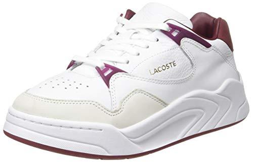 Lacoste Damen Court Slam 319 1 SFA Sneaker, Weiß (Wht/Dk Red 1y8), 40 EU