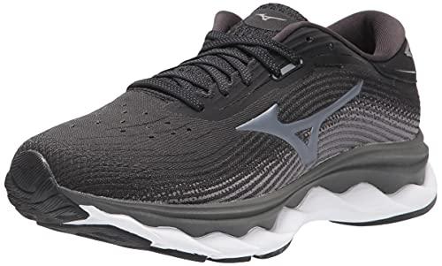 Mizuno Women's Wave Sky 5 Running Shoe, Black, 9 Wide