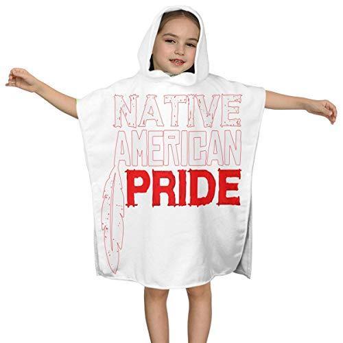 XCNGG Toalla de baño con Capucha Native American Pride Kids para niños Niños