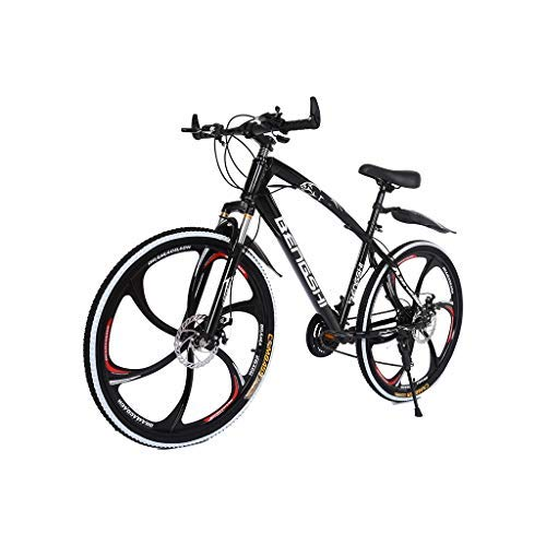 TOUNTLETS Outroad Mountain Bike Commuter Bike with 21 Speed Dual Disc Brakes Non-Slip MTB Bikes 26In, High Carbon Steel Mountain Bike Dual Suspension Frame for Men & Women Bicycle (Ship from US)