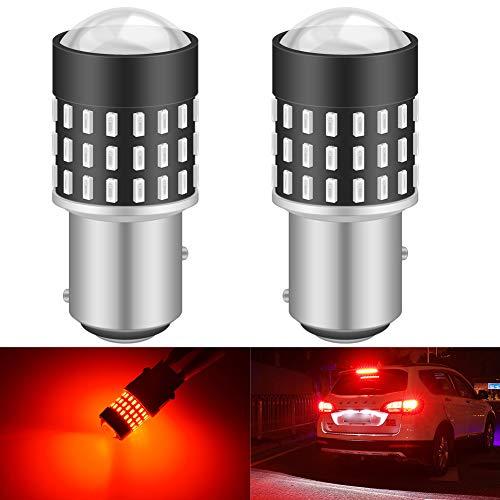 KATUR 1157 BAY15D Bombilla de luz LED 3014 54 Conjuntos de Chips de 650 lúmenes Reemplazar para la señal de Giro Respaldo Luces de Freno de Cola de Freno inversas, Rojo Brillante (Paquete de 2)