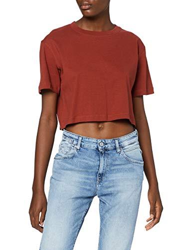Urban Classics TB1555 Damen T-Shirt Ladies Short Oversized Tee Rusty, L