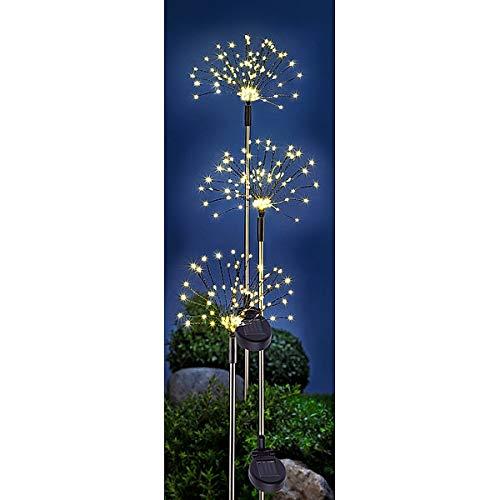 Solar-Gartenstecker Twinkle | 3er-Set für Garten & Co | traumhafte Leuchteffekte | mit Erdspieß