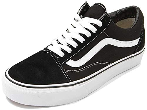 Vans Unisex Old Skool Skate Shoe (36 M EU / 6 B(M) US Women / 4.5 D(M) US Men, Black/White)