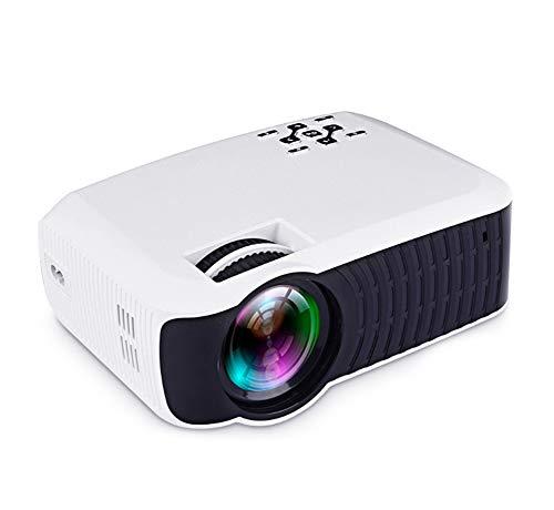 YPJKHM Proyector de Video Proyector para el hogar 1080P Mini HD Proyector LED portátilHome Entertainment Game KTV 3D Projector