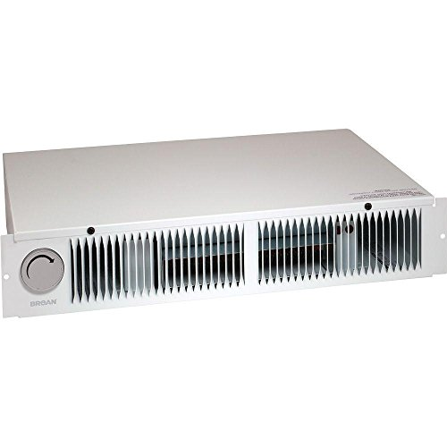 Broan 112 Kickspace Fan-Forced Wall Heater with Built-In Thermostat, White Dining Features heaters Kitchen Space