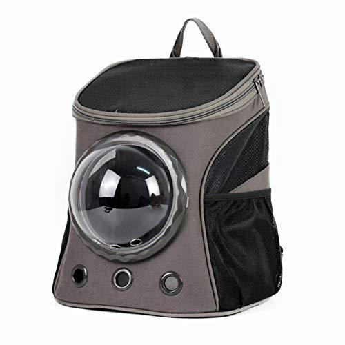 Yiqing Sac à Dos portatif de Chien de Chat de Bulle d'espace de Sac à Dos d'animal familier approprié au Transporteur de Petit Animal,Black