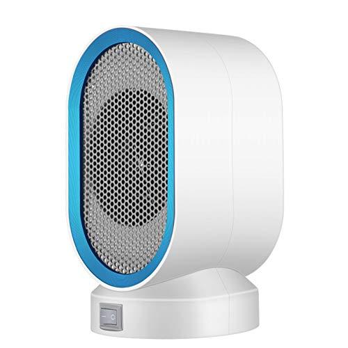 HUILING Mini calefactor de cerámica, portátil, para escritorio, interior, oficina, calefactor de invierno (color: azul)