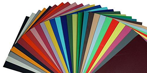 Kreativ Flock Bügelfolie A4 21 x 29,7cm Textiltransferfolie, Farbe:NEON-Orange