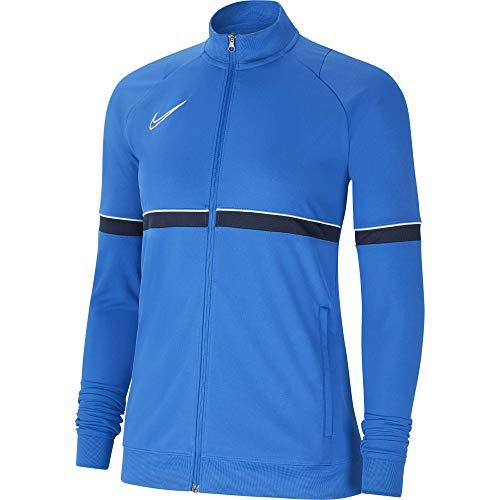 NIKE Chaqueta para mujer Academy 21 Track Jacket, Mujer, CV2677-463, azul/blanco/negro, medium