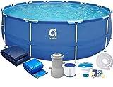 Viking Sports Avenli Frame Pool Piscina Desmontable Tubular - 366x76 cm - Completa con Filtro y Bomba - con Tapa - Azul