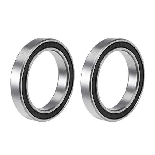uxcell 6806-2RS Deep Groove Ball Bearing 30x42x7mm Double Sealed ABEC-3 Bearings 2-Pack