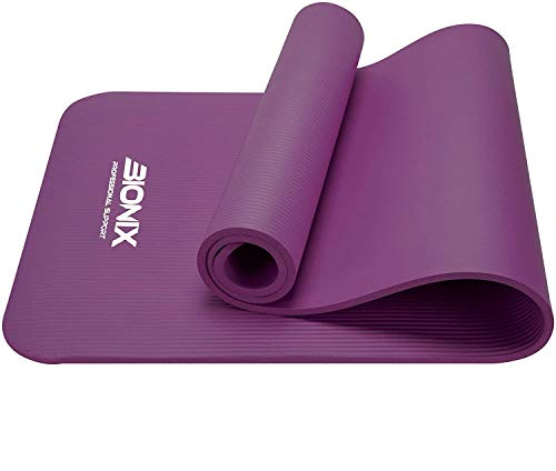 Bionix Exercise Mat PURPLE - Eco Friendly Yoga Mats With Carry Straps, Large Non Slip...
