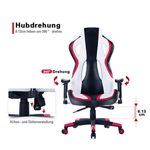 Wolmics Gaming Stuhl unter 150 Euro Rennstil PU-Leder kaufen  Bild 1*
