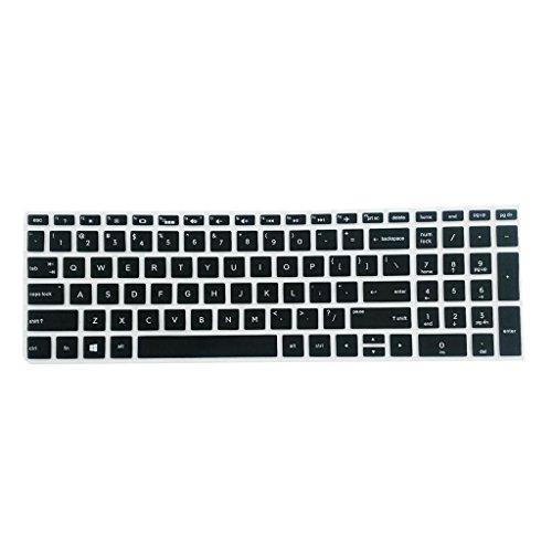 IPOTCH Copertura in Silicone Proteggere Dinture Perdite per Tastiera Desktop HP 15.6 Pollici Laptop - Nero