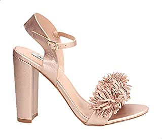Dejavu Fringe-Trim Open-Toe Block-Heel Slingback Sandals For Women