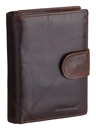 Mens Wallet Soft Genuine Leather Trifold Wallet for Men Card Holder Coin Purse gift Box 1
