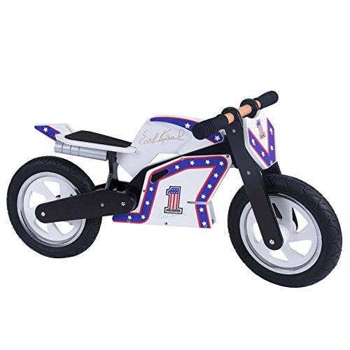 Kiddimoto draisienne - Héros Superbike Officiel moto d'équilibre en bois - Evel Knievel