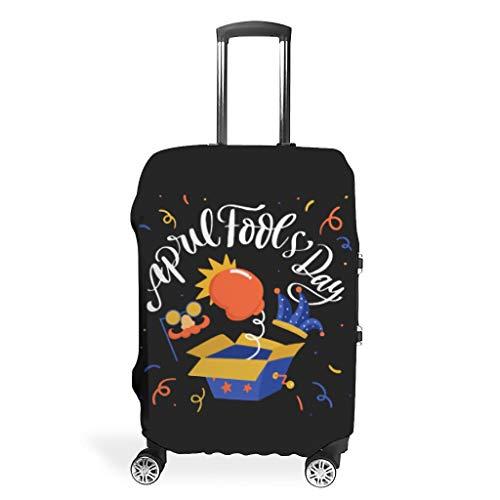Fundas para equipaje del primer abril, personalizables, 4 tamaños, blanco (Blanco) - Mentmate Store-XLXT