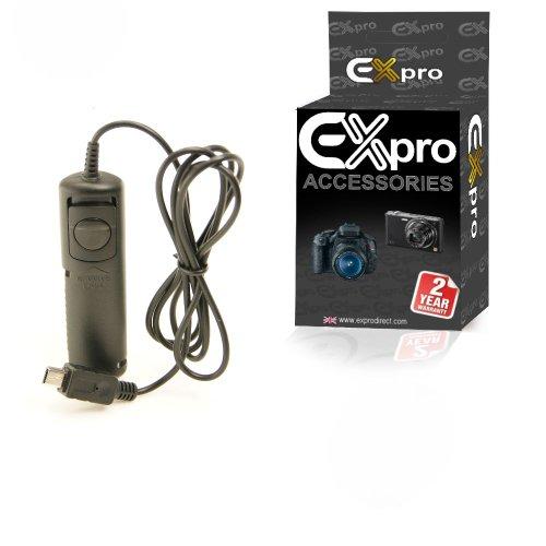 Ex-Pro RR-80 Kabel-Fernauslöser für FujiFilm FinePix HS20EXR, HS22EXR, HS25EXR, HS28EXR, HS30EXR, HS33EXR, HS38EXE, S2, S5, S20 Pro, S100FS, S200EXR, S205EXR, S9000, S9100, S9500, S9600, IS-1, E-X1, X-S1, X300