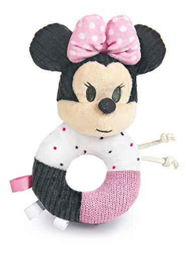 Clementoni - 17338 - Disney Baby Minnie Morbido Anello Sonaglino - Gioco Neonato, 100% Lavabile, Bambino 0 - 18 Mesi