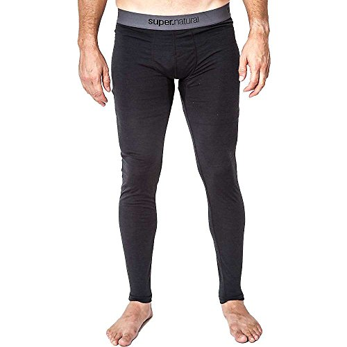 Super natural Collant de compression Merino Base 175 pour homme Noir Caviar XX-Large
