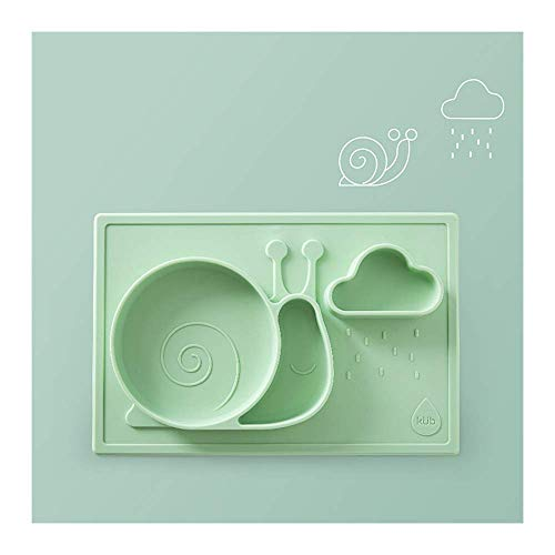WYBD.Y Plato para bebé, Bandeja de Disco, Ventosa, tazón, tazón para Comida, tazón para lechón para bebé, tapete de Silicona, vajilla para niños (Color: C)