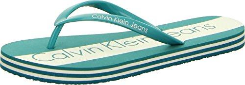 Calvin Klein Jeans Trudi Jelly Damen Flip-Flops Zehentrenner Türkis Größe 37-38 EU