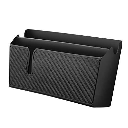 Caja de almacenamiento para coche de fibra de carbono tipo pasta para teléfono móvil, organizador de coche