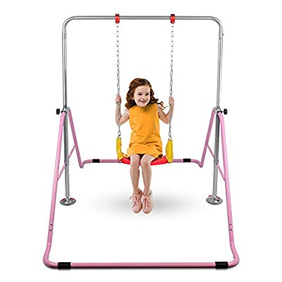 ONETWOFIT Gymnastics Bars Kids Kip Training Bars for Home,Folding Horizontal Bars with Adjustable Height,Practice Bar Gymnastic,Junior Training Bar for Child OT128