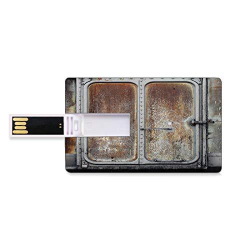 16 GB Unidades flash USB flash Industrial Vintage Ferrocarril Contenedor Puerta Metal Antiguo Locomotora Transporte Hierro Diseño de energía Forma de tarjeta de crédito bancaria Clave comercia