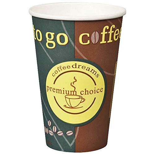 1-PACK Kaffeebecher Coffee ToGo COFFEE DREAMS Pappe beschichtet 10oz. 250 ml, 50 Stück