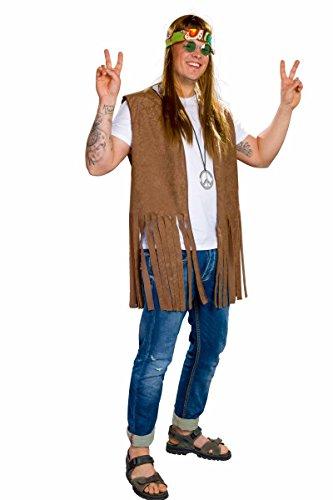 Festartikel Müller Hippie-Weste für Herren, braun Größe XL