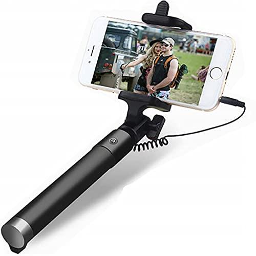 Retoo Palo selfie extensible de 78 cm con rotación de 360 grados, monopié...