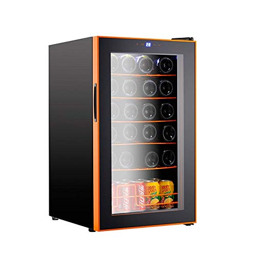 CHENMAO Aluminum Wine Cabinet with Digital Temperature Freestanding Refrigerator Glass Door Silent Design