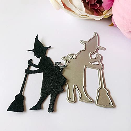 Halloween Free shipping Witch Broom Metal Paper Minneapolis Mall for DIY Dies Cutting Stencils