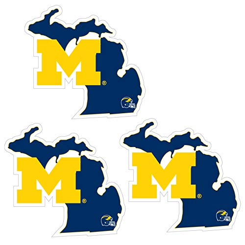 NCAA Siskiyou Sports Fan Shop Michigan Wolverines Home State Decal One Size Team Color
