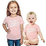 Sorella Maggiore e sorellina. Set per Neonati e Neonate Idea Regalo per Nascita Neonata Rosa 12-18 Mesi/Bimba Rosa 3-4 Anni (96/104cm)
