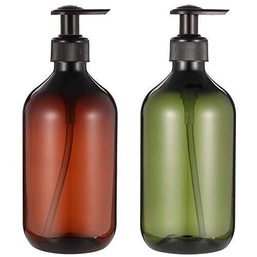 Leer Flasche Seifenspender, 2 Stück Lotion Pumpe Spender Lotionspender, Empty Refillable Lotion Pump Bottles Lotionspender aus Kunststoff (500ml)