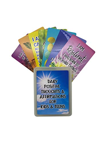 Positive Affirmation Cards for Kids + Teens with Empowering Questions - Encourage & Inspire Your Kids to Promote a Positive Attitude, Growth Mindset, and Increase Confidence - Great for Adults Too!