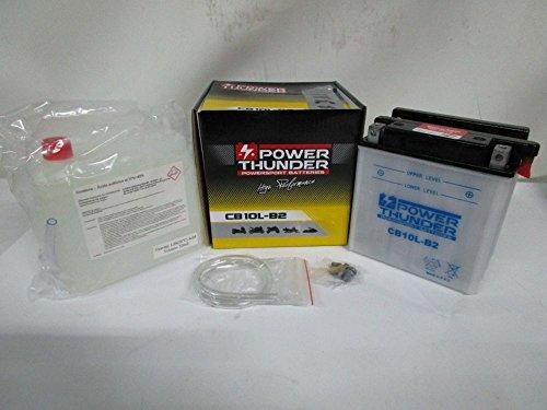 Batería Power Thunder YB10L-B212V/11ah con ácido a Corredo