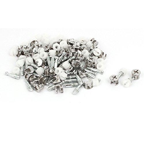 Aexit Möbelverschraubungen Verbindungsschrauben Nocken - Dübelmuttern Silver Tone 50 Sets (7f5b58ade499cae9054d682eeec64a29)