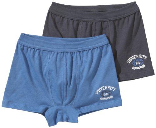 Schiesser Jungen 2pack Shorts Unterhose, Mehrfarbig (901-sortiert 1), 152 (10-11Y)