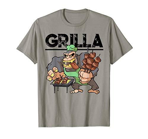Grill Grillen BBQ und Smoker Gorilla Spruch Griller Geschenk T-Shirt