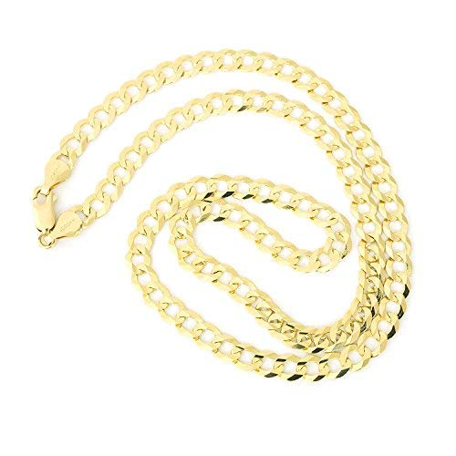 Made in Italy 14K Solid Yellow Gold 2.65mm Cuban Curb Link Chain Necklace