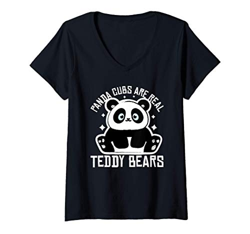 Mujer Oso Panda Beb Panda Disfraz Regalo Oso Panda Beb Panda Camiseta Cuello V