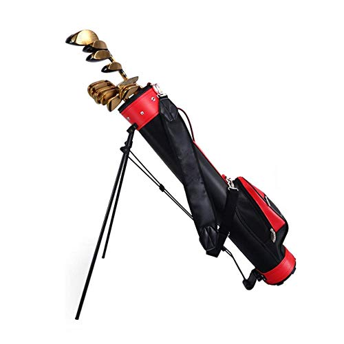 JLN-golf bag Golftasche Leichte Frühlings Aktion Stehen gepolsterte Trageriemen Schirmhalter Abnehmbare Kapuze Regen 9 Clubs halten kann 22 × 15 × 130 cm