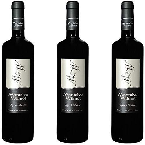 Montalvo Wilmot Vino Tinto  - 3 botellas x 750ml - total: 2250 ml